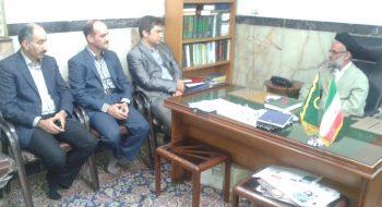 دیدار ریاست جدید دانشگاه با امام جمعه محترم شهرستان گرمسار