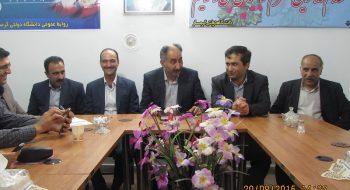 اولین جلسه اداری با حضور ریاست جدید دانشگاه برگزار شد